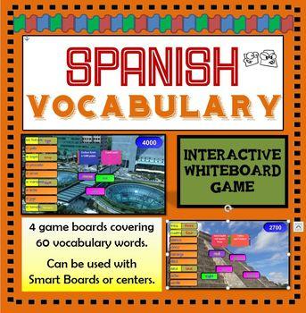 Spanish Vocabulary SMART Board / Interactive Whiteboard Game