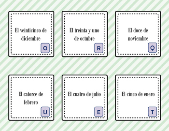 Spanish Vocabulary Scavenger Hunt: Days, Months, Seasons, Date