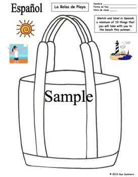 Spanish Vocabulary Sketch and Label Bundle - 10 Activities