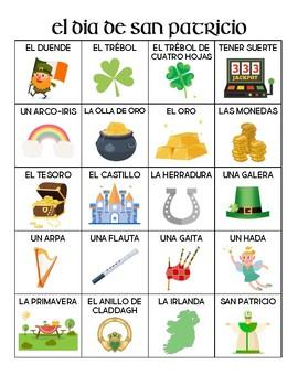 Spanish - Vocabulary - St. Patrick's Day