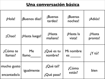 Spanish Vocabulary : Survivor (Introductions and Classroom Commands)