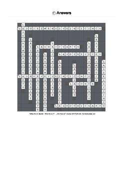 Spanish Vocabulary - Telling Time Crossword Puzzle