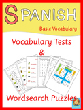 Spanish Vocabulary Tests and Wordsearch Puzzles