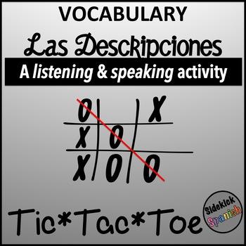 Spanish Vocabulary Tic Tac Toe: Descripciones