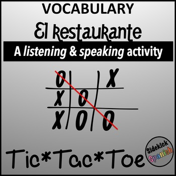 Spanish Vocabulary Tic Tac Toe: El Restaurante