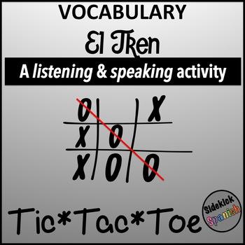 Spanish Vocabulary Tic Tac Toe: El Tren