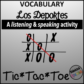 Spanish Vocabulary Tic Tac Toe: Los Deportes
