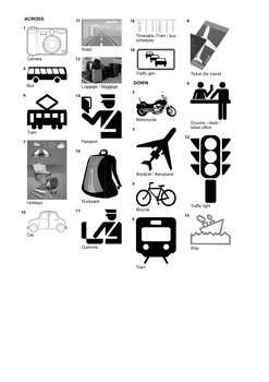 Spanish Vocabulary - Travel and Means of Transport Crossword Puzzle