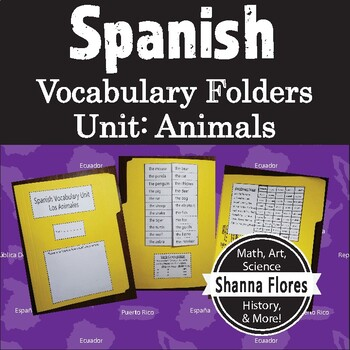 Spanish Vocabulary Unit Folder - Los Animales - Animals
