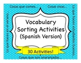 Spanish Vocabulary Sorting Activities