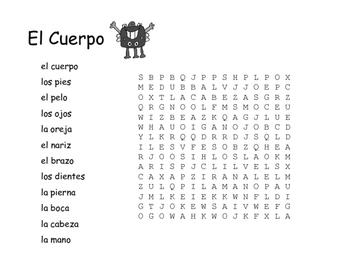 Spanish Vocabulary Word Search Bundle