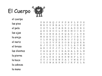 Spanish Vocabulary Word Search Bundle