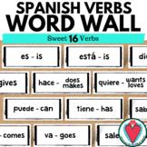 Spanish Vocabulary Word Wall - Spanish Sweet 16 Verbs - Bu