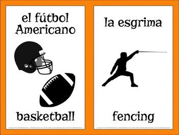 Spanish Sports Vocabulary Word Wall