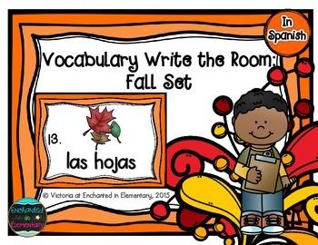Spanish Vocabulary Write the Room: Fall Set