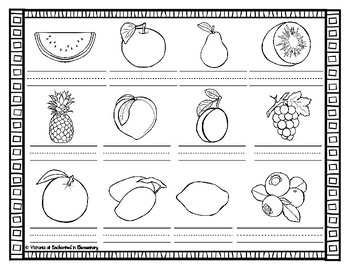 Spanish Vocabulary Write the Room: Fruits Set