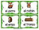 Spanish Vocabulary Write the Room: In the Forest Set