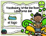 Spanish Vocabulary Write the Room: Landforms Set