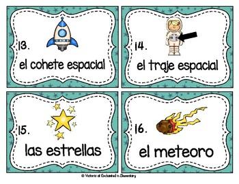 Spanish Vocabulary Write the Room: Space Set