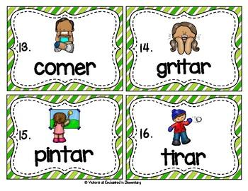 Spanish Vocabulary Write the Room: Verbs Set