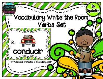 Spanish Vocabulary Write the Room: Verbs Set