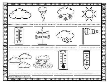 Spanish Vocabulary Write the Room: Weather Set