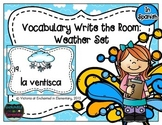 Spanish Vocabulary Write the Room: Weather Set