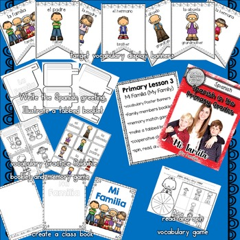 Spanish for Beginners in the Primary Grades Bundle Weeks 1-4