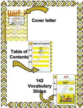 Spanish Vocabulary for Unidad 1 of Avancemos 1 DINB