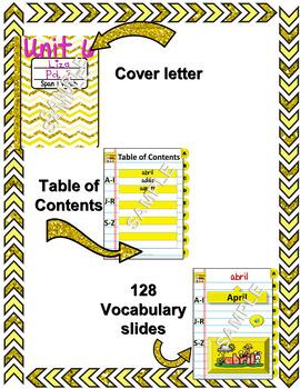 Spanish Vocabulary for Unidad 6 of Avancemos 1 DINB