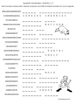 Spanish Vocabulary for fun!
