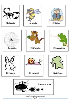 Spanish Vocabulary riddles- Bundle