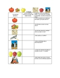 Speech Therapy Spanish Vocabulary with Questions: Fall/Otoño