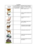 Speech Therapy Spanish Vocab with Questions: Farm/Granja