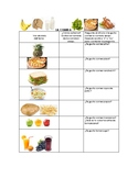 Speech Therapy Spanish Vocabulary with Questions: Food/Comida