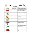 Speech Therapy Spanish Vocabulary with Questions: Insects/Insectos