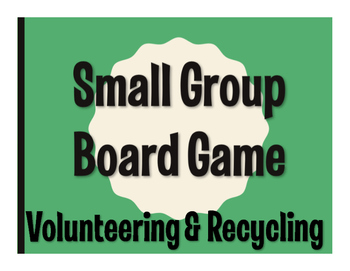 Spanish Volunteering and Recycling Board Game