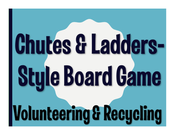 Spanish Volunteering and Recycling Chutes and Ladders-Style Game