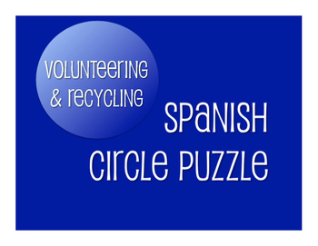 Spanish Volunteering and Recycling Circle Puzzle