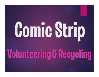 Spanish Volunteering and Recycling Comic Strip