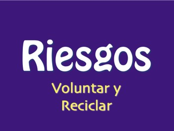 Spanish Volunteering and Recycling Jeopardy-Style Review Game