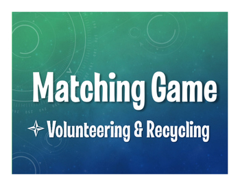 Spanish Volunteering and Recycling Matching Game