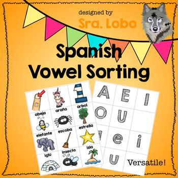 Spanish - Vowel Sorting