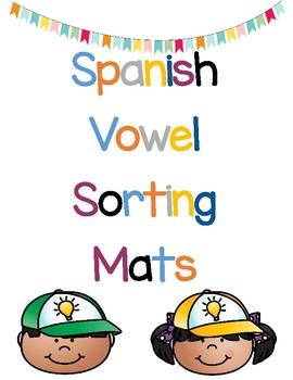 Spanish Vowel Sorting Mats