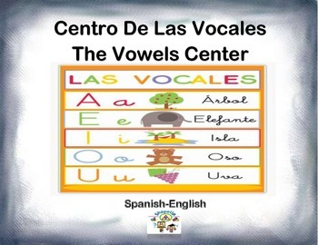 Spanish Vowels / Las Vocales in a Station / Center Activity