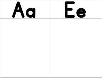 Spanish Vowels Sorting Mats:  Bilingual Center or File Folder