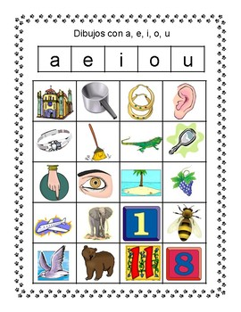 Spanish Vowels Word Sorts