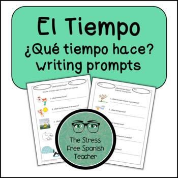 Spanish WEATHER El tiempo / El clima WRITING activities