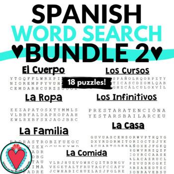 Spanish Word Search Bundle 2