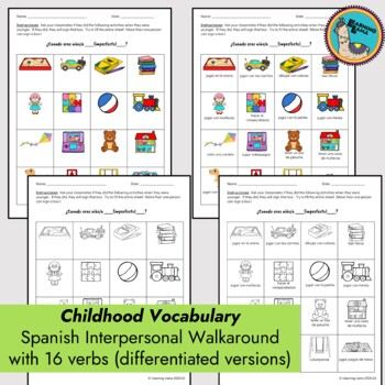 Spanish Walkaround Interpersonal Activity Imperfect - La niñez